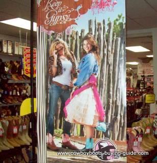 Womens Western Cowboy Boots Showroom