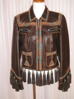 lether jacket for a customer