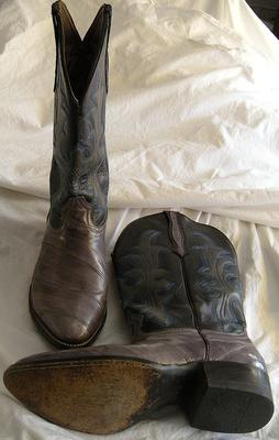 819db3cfd71 Coyote Joe Eel Skin Boots, Made in Mexico, Mens size 8